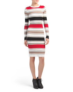 Juniors Metallic Stripe Midi Dress