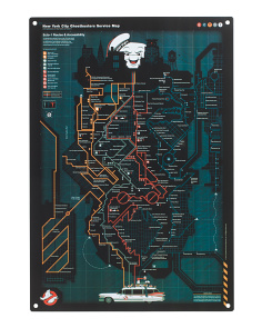 Ghostbusters Nyc Subway Map