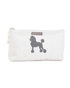 Poodle Stripes Cosmetic Bag