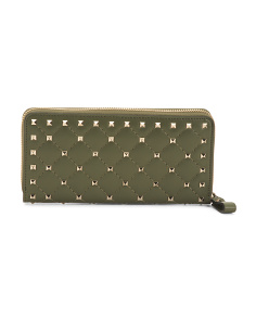 Made In Italy Leather Rockstud Wallet