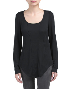 Seamed Long Sleeve Top