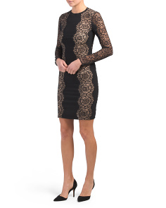 Made In Italy Long Sleeve Lace Dress