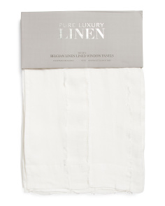 Made In India Set Of 2 50x96 Sheer Linen Curtains