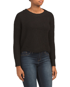 Juniors Scalloped Hem Sweater
