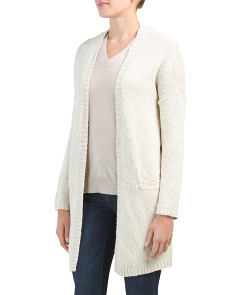 Juniors Slub Two Pocket Cardigan