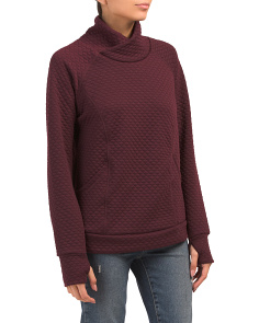 Seamed Funnel Neck Top