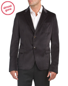 Made In Italy Solid Velvet Jacket