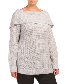 Plus Thermal Knit Tunic Sweater
