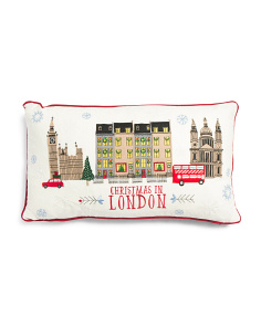14x24 Christmas In London Pillow