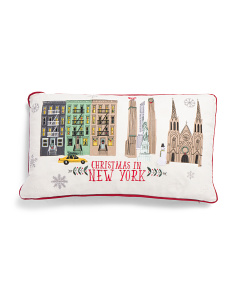 Christmas In New York Pillow