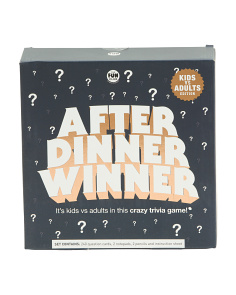 After Dinner Winner Game