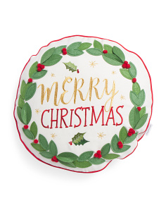 18x18 Round Merry Christmas Wreath