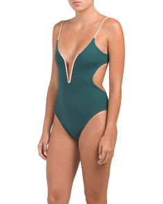 Made In Usa Cut Out One-piece Swimsuit
