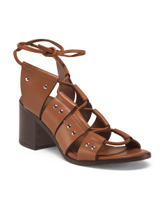 Made In Italy Stacked Leather Sandals