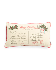 14x24 Dear Santa Postcard Pillow
