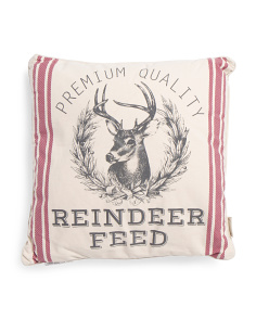 20x20 Reindeer Feedsack Pillow