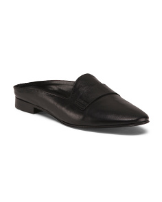 Made In Italy Leather Mules