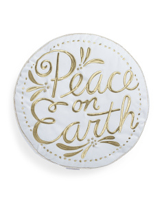 18x18 Peace On Earth Pillow