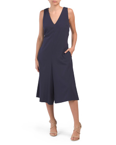 V-neck Cropped Jumpsuit