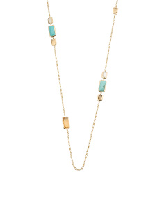 18k Gold Rock Candy Gelato Station Necklace