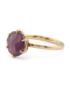 18k Gold Rock Candy Ruby Ring