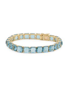18k Gold Rock Candy Blue Topaz Bracelet