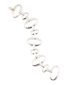Made In Usa Sterling Silver Classico Oval Link Bracelet