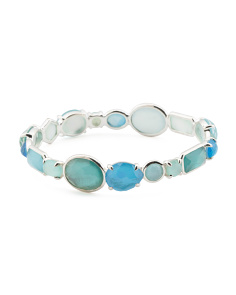 Made In Thailand Sterling Silver Wonderland Stone Bracelet