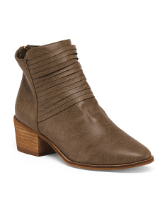 Ruched Ankle Booties