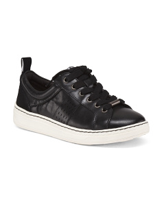 Lace Up Leather Sneakers