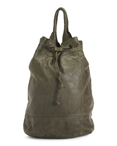 Made In Italy Leather Backpack Sack