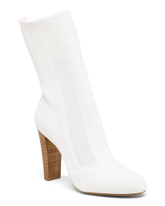 Mid Shaft Stretch Knit Boots