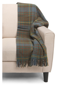 Made In Britian Wool Maple Tartan Throw