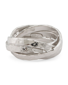 Made In Italy Sterling Silver Wrap Band Ring