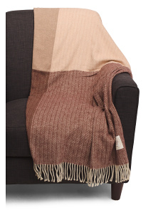 Made In Italy Herringbone Throw