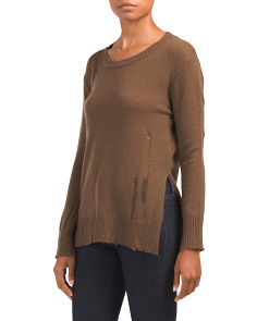 Drop Needle Wool Blend Sweater