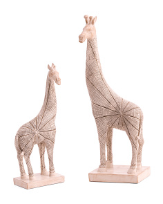 Set Of 2 Mom & Baby Giraffes