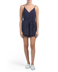 Juniors Australian Design Embroidered Romper