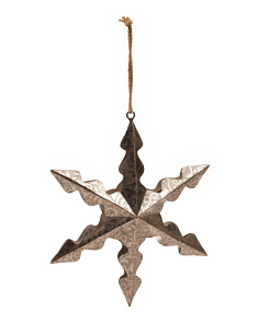 Antique Snowflake Star Ornament