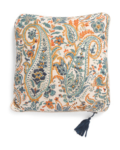 Made In India 20x20 Paisley Pillow