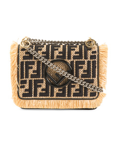 Made In Italy Small Raffia Crossbody