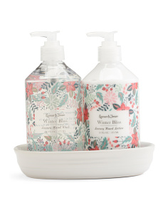 Winter Bliss Lotion And Wash Ceramic Caddy