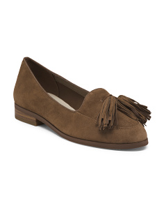 Suede Tassle Loafers