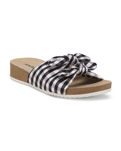 Gingham Footbed Sandals