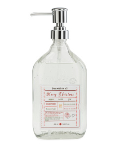 15oz Merry Christmas Hand Wash In Glass