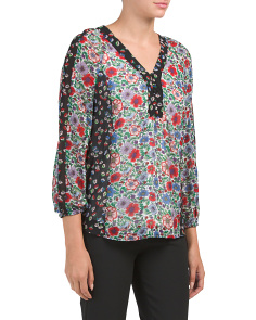 Mixed Floral Print Blouse