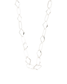 Handmade In Mexico Sterling Silver Hand Forged Link Necklace