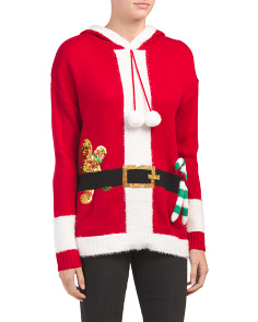 Hooded Santa Christmas Sweater