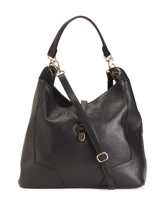 Made In Italy Leather Convertible Hobo