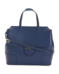 Made In Italy Large Leather Satchel